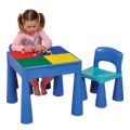 Children's Multi Purpose Table & Chair Set,Early Years Multi Activity Tables and Chairs Set Blue